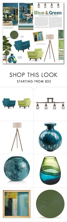 """Blue & Green"" by artplusdesign ❤ liked on Polyvore featuring interior, interiors, interior design, home, home decor, interior decorating, Ballard Designs, ProTrack, Lite Source and Jonathan Adler"