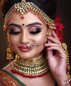9 Sassy Bridal Eye Makeup Styles To Flaunt At Your Wedding Bride Eye Makeup, Wedding Eye Makeup, Indian Wedding Makeup, Best Bridal Makeup, Bridal Makeup Looks, Indian Makeup Style, Indian Eye Makeup, Arabic Makeup, Indian Style