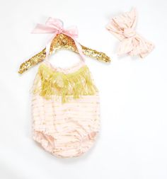 Golden Arrow Romper by StevensBabyBoutique on Etsy Ruffle Romper, Princess Party, Cotton Fabric, Bubbles, Girl Outfits, My Etsy Shop, Baby Rompers, Handmade, Arrows