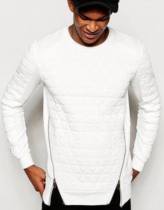 Image 1 ofBlack Kaviar Quilted Sweatshirt