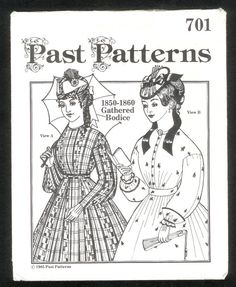 Vintage 1985 Past Patterns 701 circa 18501860  Women's by lucysbud, $12.00