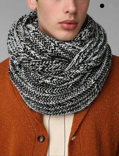 Marled Cable-Knit Eternity Scarf: Urban Outfitters