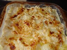 Patatas gratinadas con crema de queso con Thermomix