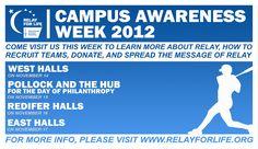 Relay For Life: Campus Awareness Week 2012!