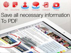 Convert photos, documents, web pages etc in PDF with To PDF l #freeapp #ipad