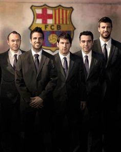 Iniesta, Cesc, Messi, Xavi y Pique :)