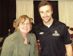 Met James Hinchcliffe in 2012 at the Canadian Motorsport Expo.