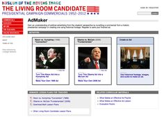 activities and lesson plans for dissecting and analyzing presidential ads httpwww - Living Room Candidate Lesson Plan