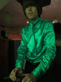 Satin shirt from Perfumed Garden Clothing worn by Peter Feely