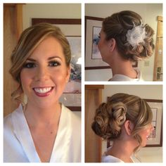 Beautiful bride! Bridal hair updo makeup