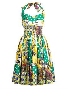 Dolce & Gabbana Halterneck multi-print dress on shopstyle.com