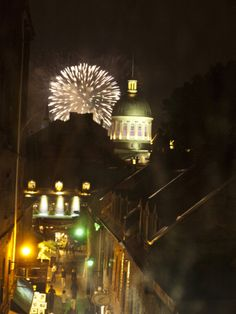Fireworks in Old Montreal