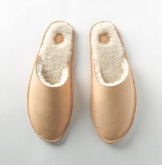 Louil House Shoe in Natural Stay Warm, Warm And Cozy, Getting Cozy, Wide Feet, Monogram Initials, You Bag, Curly Hair Styles, Slippers, Leather