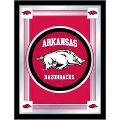 Arkansas Razorbacks Logo Wall Mirror