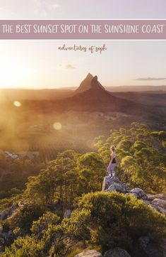 There is no doubt about it that the best spot to watch the sunset on the Sunshine Coast is atop one of the Glasshouse mountains. Mt Ngungun is one of the easiest to climb, but that doesn't mean it's not as beautiful as the others. Go check it out!