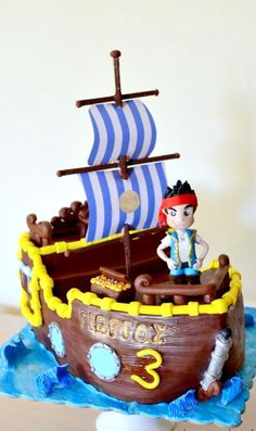 Jake Pirate ship cake