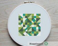 motif point de croix moderne géométrique patron au par Happinesst