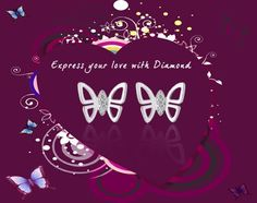 Get a FREE Diamond Pendant with this Butterfly Earring!!!    You can buy it here - http://diamondnyou.com