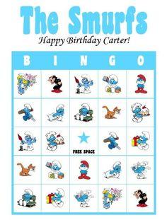 Smurfs Party Bingo Game