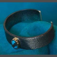 Turquoise Silver Gold Bracelet Wes Willie