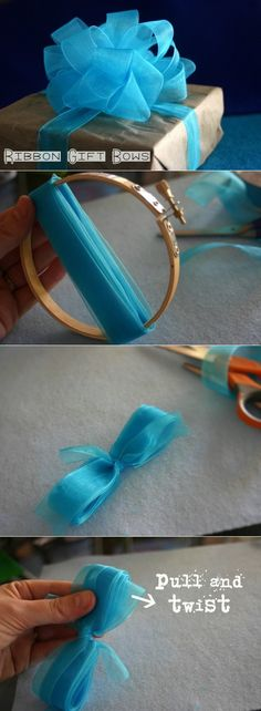 Super Ideas For Gifts Christmas Wrapping Diy Gift Wrapping Bows, Creative Gift Wrapping, Christmas Gift Wrapping, Wrapping Ideas, Creative Gifts, Wrapping Presents, Gift Wraping, Christmas Items, Gift Ribbon