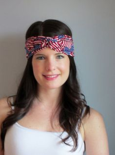 Fourth of July Headband Patriotic Turban by ItsTwisted on Etsy