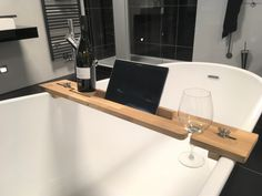 Wooden Bath Caddy Tuba - Bath Tray - Relaxing - gift for him or her - for the bathroom - Tablet stand - Book stand - Singles day