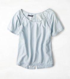 AEO Cutout Chambray Shirt