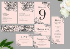 Botanical Leaves Wedding Invitation Set Printable Invitation | Etsy Botanical Wedding Invitations, Printable Wedding Invitations, Wedding Invitation Sets, Christmas Card Template, Reception Card, Wedding Templates, Menu Cards, Save The Date Cards, Perfect Wedding