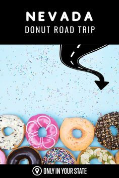 Take the sweetest road trip of your life on this delicious donut trail in Nevada. The perfect adventure for foodies or anyone looking for a sugar rush, you'll discover some of the best bakeries, cafes, and pastry shops in the state. Good Bakery, Delicious Donuts, Donut Shop, Pastry Shop, Sugar Rush, Bakeries, Yummy Drinks, Day Trip, Road Trips