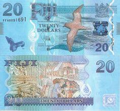 3 nota Set Fiji 5 - 20 dólares $Billete Mundo Dinero Moneda nota Bill 2013