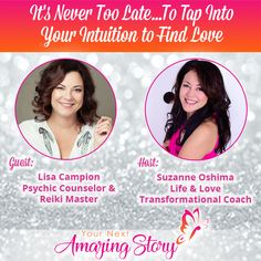 Lisa Campion - Psychic Counselor & Reiki Master is sharing with you how to tap into your intuition to find love when you're over 50 years old and dating. Do You Feel, Let It Be, Dating Coach, Love Again, Dating Advice, Intuition, Never, Reiki, Letting Go