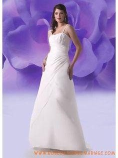 Bretelles simple en satin et en mousseline robe mère de mariage