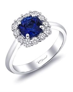 Cushion Halo Sapphire Engagement Ring-LC5254-S http://www.theknot.com/gallery/wedding-rings/coast-diamond/cushion-halo-sapphire-engagement-ring-lc5254-s