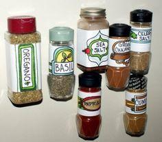 DIY Magnetic Spice Jars by soapdeligirl