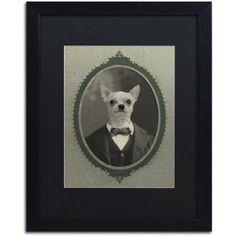 Trademark Fine Art 'Dog Series #1' Canvas Art by J Hovenstine Studios, Black Matte, Black Frame, Size: 16 x 20, Gray