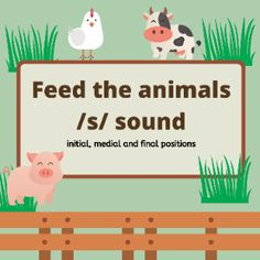 Boom Cards - Feed the animals: /s/ sound Speech Therapy, Initials, Medicine, Positivity, Activities, Learning, Words, Speech Pathology, Speech Language Therapy