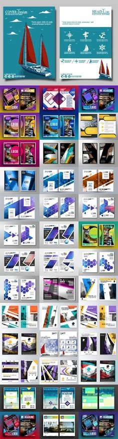 Brochure flyer template design36