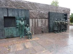The FDR Memorial, in memory of the great depression