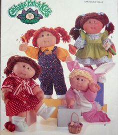 VINTAGE 2001 BUTTERICK 5902 SEWING PATTERN CABBAGE PATCH CLOTHES 16  DOLL  UNCUT