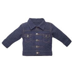 Mini jean jacket available @ IDH Gift www.interiordesig... #babystyle #idhstyle #kidsareexpensive #greattasteisnt
