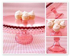 Vintage Pink Cake Stand