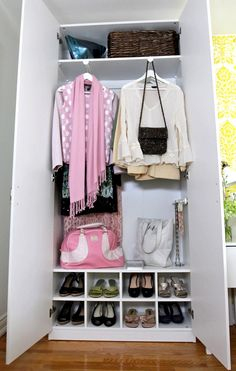 PAX storage installed on either side of the bed for a great storage solution. This piece especially shows off the new front facing clothing rail making it easy to pick your outfit for the day.