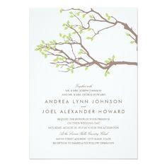 Summer Wedding Invitations Blissful Branches Wedding Card