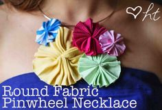 The Round Fabric Pinwheel Necklace by ohsohappytogether, via Flickr