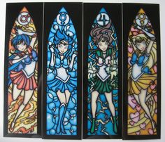 Sailor Scout Faux Stained Glass