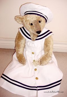 """Antique Style Artist 22"""" Traditional Teddy Bear - jointed, mohair 4 Steiff lover picclick.com"""