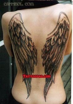 angel wing tattoos, tattoo angel wings and angel tattoo designs. #tattoo #tattoos #ink