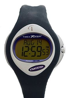 Timex Womens RUSH iControl Digital Pulse Calculator Alarm INDIGLO Green Resin Watch T52111. iControl. Pulse Calculator.