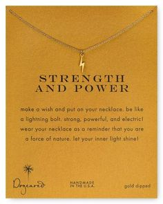 """Dogeared Strength & Power Necklace, 18"""" 